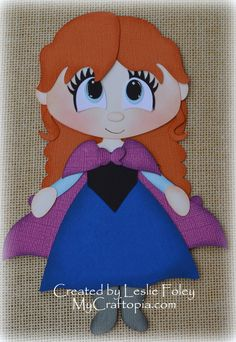 Disney Princess Anna Frozen Premade Scrapbooking by MyCraftopia, $5.95