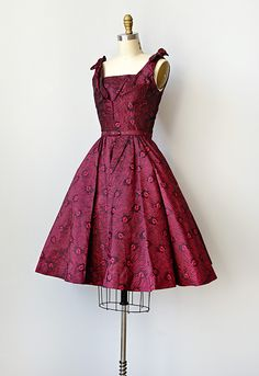 1950s Dresses | vintage 1950s red bombshell party dress //