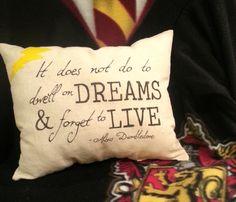Dumbledore Quote Harry Potter Pillow. $15.00, via Etsy.