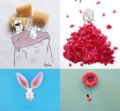 Illustrazioni e materia. 3 nomi che mescolano disegno e oggetti