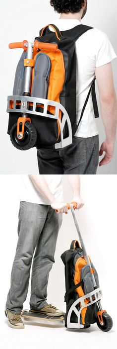 Take my money!!--cool backpack scoorter