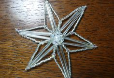 Beaded Snowflake Christmas Ornament by AutumnStormBeadwork on Etsy