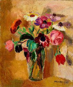Floreros. Cuadro de Menchu Gal. Pintura española del siglo XX