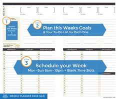 Top·Down Planner | Weekly Planner PDF Download , Planner, Calendar, Goal Setting - Top·Down Planner, Top·Down Planner - 3