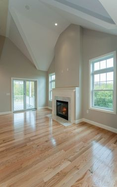 New light wood floors living room hardwood ceilings ideas Red Oak Floors, Maple Floors, Hardwood Floor Colors, Light Hardwood Floors, Living Room Wood Floor, Living Room Paint, Natural Wood Flooring, Oak Flooring, Design Moderne