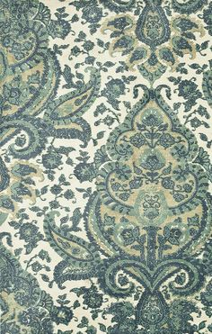 Teal Ornate Avanti Rug Pattern