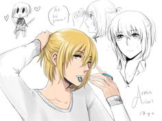 ONG ALL THE OLDER STUFF I SEE OF ARMIN MAKES HIM LOOK SO SEXY LIKE WHY AND HOW?---Because he's Armin.
