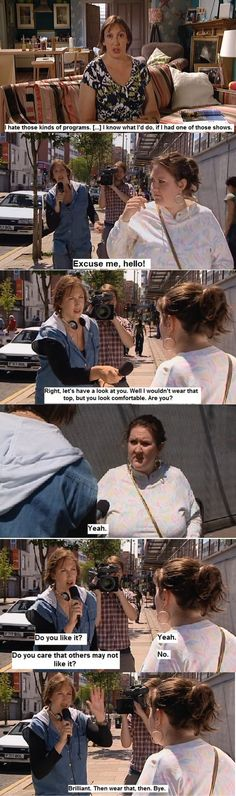 Miranda Hart's brilliant take on What Not To Wear, et al.,