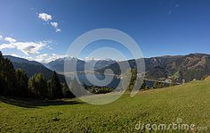 View From Mitterberg To Zell Am See Lake Zell & Kitzsteinhorn Stock Photo - Image of blue, green: 60257130 Zell Am See, Salzburg, Autumn Fall, Alps, My Images, Sunny Days, Austria, Colorful, Seasons