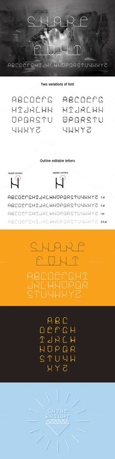 Snake vector linear font. Fonts. $6.00