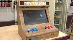 A retro gaming cabinet made with only one sheet of plywood!