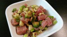 Spicy ahi tuna salad!