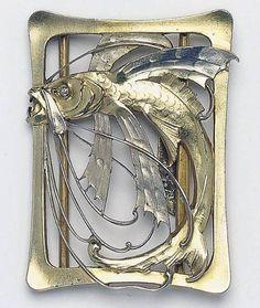 Art Nouveau Buckle by Carl Strathmann ca.1900