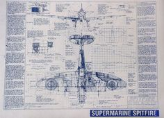 The beautiful Supermarine Spitfire blueprints you see here are made using the old fashioned method – ammonia activated paper on a traditional Diazit blueprint machine. Each measures 36″ x 24″ and includes a wealth of information about the iconic aircraft on either side of some nicely detailed illustrations, making it the perfect wall-piece for a garage, shed,...