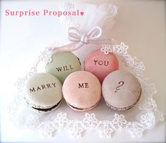 Will You Marry Me Ceramic Macaron Fragrance Object by Hideminy Macaroon Favors, Surprise Proposal, Proposal Ideas, Marriage Proposals, Wedding Preparation, Lily Of The Valley, Wedding Moments, Chocolate Lovers, Marry Me