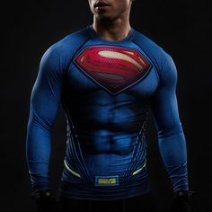 37d87e2b27b95 Superman (Long Sleeve) - HeroWears.com - Premium Superhero Compression T-Shirts.  T Shirt ...