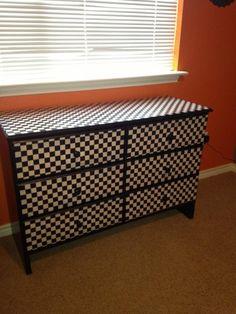 Dresser redo Furniture Makeover, Furniture Decor, Painted Furniture, Decorating Ideas, Craft Ideas, Repurposed, Decoupage, Dresser, Storage