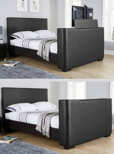 The Best TV Beds. This is the Gayle TV Bed in Black Faux Leather, can hold up to TV. Available in Double and King sizes. Read More. Tv Beds, Mattress In A Box, Black Tv, Black Faux Leather, Best Tv, King Size, Furniture, Home Decor, Interior Design