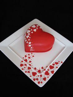 Cake fondant valentine day gâteau st-valentin coeur heart amour love Auteure d'origine : Au pays de Candice