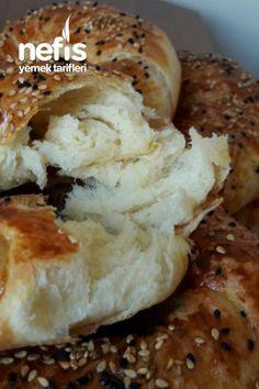 Hakiki Pastane Açması ( Tereyağlı Tel Tel) Tam Ölçü Bagel, Pasta Recipes, Yogurt, Food And Drink, Cookies, Recipes, Crack Crackers, Biscuits, Cookie Recipes