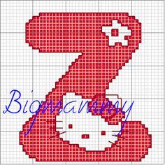 alphabet cross stitch... hello kitty - klick on website A-Z - free pattern