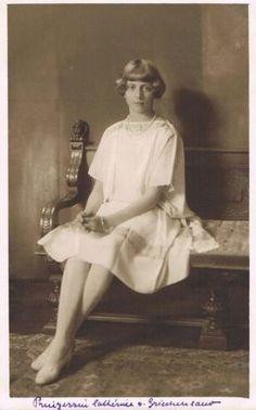 Katharina von Griechenland und Dänemark, future Lady Brandram 1913-2007