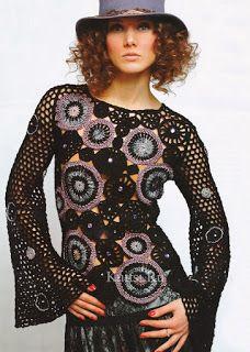 Valéria  Fashion: Blusa em crochê