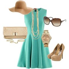 dress green and nude shoes
