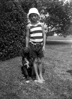 John F. Kennedy with family dog, Bobby, in Hyannis Port, 925.       REUTERS/Courtesy John F. Kennedy Library Foundation