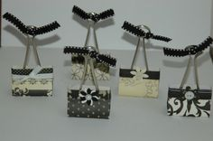 binder clip purses for a theme party