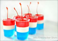 4th of July Jello Firecracker dessert