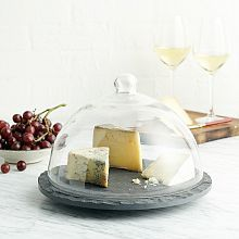 Dinnerware Sale, Glassware Sale & Serveware Sale | West Elm...........Slate & Glass Domed tray