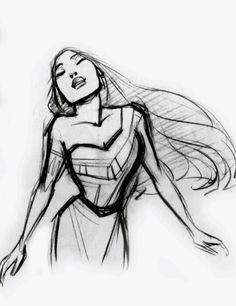 Pocahontas concept sketch by Glen Keane