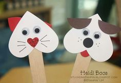 Valentine craft - these are adorable and would be easy to pull together last minute!