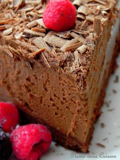 Gateau chocolat + mousse