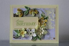 """Handmade Paper Quilling Greeting """"Happy Birthday"""" Card with Amazing Flowers (Birthday, Anniversary) by FromQuillingWithLove"""