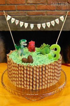 ideas para decorar tortas infantiles 5 Dinosaur Birthday Cakes, 3rd Birthday Cakes, Dinosaur Party, Boy Birthday Parties, Birthday Fun, Fete Laurent, Dino Cake, Cake Decorating, Party Cakes