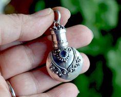 Sterling Silver Prayer Box SS Perfume Oil Bottle Pill by LKArtChic