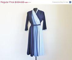 20 Off Sale Vintage 40's Blue Wool Color by perniejaynevintage, $99.20