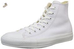 Converse Chuck Taylor Hi Top Leather White Monochrome 1T406 Mens 5 - Converse chucks for women (*Amazon Partner-Link)