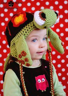 Sea Turtle Ear Flap Hat Pattern. $4.99, via Etsy. @Dani Littlefield, can you make me one?? LOL