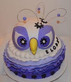 Gâteau d'anniversaire, petshop hibou