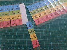 Cabrioles et Cacahuètes: Alphabet arabe mobile / Arabic Movable Alphabet Letters In Arabic, Learn Arabic Alphabet, Arabic Phrases, Alphabet For Kids, Learn Arabic Online, Islam For Kids, Arabic Lessons, Cubes, Arabic Language