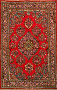 """Sarough Persian Rug, Buy Handmade Sarough Persian Rug 6' 11"""" x 11' 0"""", Authentic Persian Rug"""