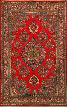 "Sarough Persian Rug, Buy Handmade Sarough Persian Rug 6' 11"" x 11' 0"", Authentic Persian Rug"