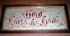 "VICTORIAN PAPER PUNCH MOTTO SAMPLER VICTORIAN FRAME ""GOD BLESS OUR HOME""#followitfindit"