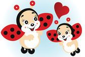 cute ladybugs in love. Lady Bug, Ladybug Cartoon, Hello Kitty, Minnie Mouse, Disney Characters, Fictional Characters, Images, Flag, Valentines
