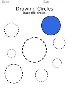 Tracing Circles Worksheet