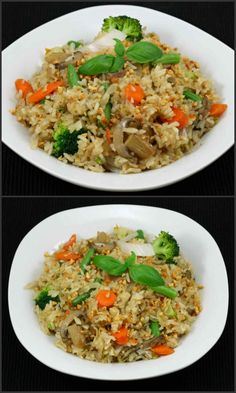 Spicy Thai Fried Rice is a delicious, spicy rice recipe prepared using fresh basil leaves, vegetables of your choice, thai bird chillis, garlic and sauces. Curry Fried Rice, Thai Fried Rice, Garlic Fried Rice, Vegetable Fried Rice, Vegetable Curry, Thai Rice, Basil Fried Rice, Vegetarian Rice Recipes, Vegetarian Platter