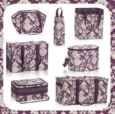 Are you a purple fan? Check out the newest purple print Thirty-One has in the Fall line up. Vintage Damask.
